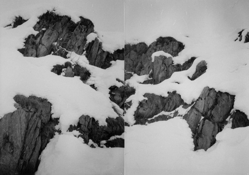 rocks in the snow (two prints)