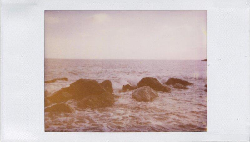 The Sea - Polaroid 500 film in Joycam: Genova